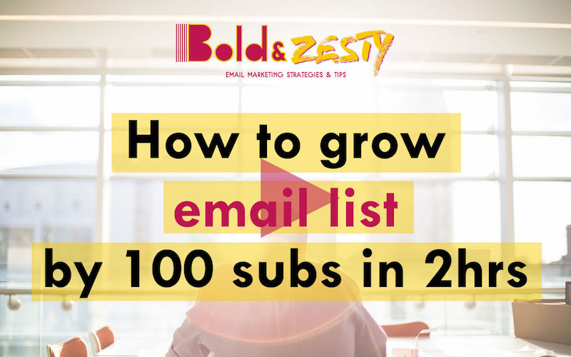 How to grow your email list by 100 subscribers in 2 hours - video tutorial by Kasey Luck